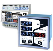 Multifunction Meters with LED Displays